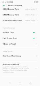 headphone Monitor in realme